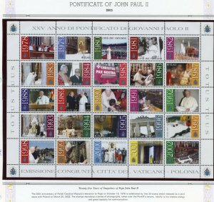 VATICAN CITY 2003  COMPLETE YEAR SET STAMPS WITH BOOKLET MINT NH ON ALBUM PAGES