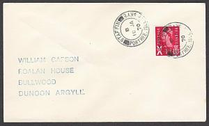 GB SCOTLAND 1970 cover STAFFIN / PORTREE /  ISLE OF SKYE cds...............54324