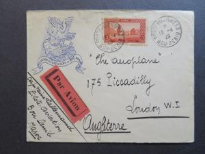 French Morocco 1929 Military Cover to England / Cacheted - Z7835