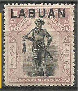 LABUAN 1894, MH, 1c, Chieftain Scott 49