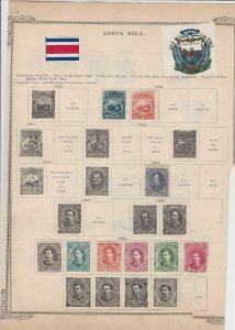 costa rica stamps on 2 pages ref r 11353