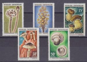 1967 Central African Republic Scott 81-85 Various Mushrooms MH RARE