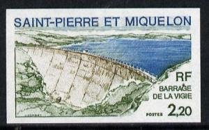 St Pierre & Miquelon 1976 Vigie Dam two different Imp...
