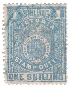 (I.B) Australia - Victoria Revenue : Stamp Duty 1/-