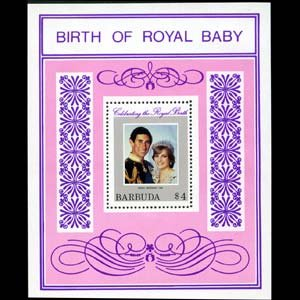 BARBUDA 1981 - Scott# 535 S/S Royal Baby NH