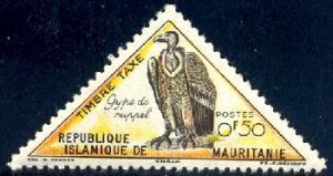 Bird, Vulture, Reppell's Griffon, Mauritania SC#J26 MNH