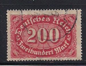 Germany Sc. # 200 Used Inflation Wmk. 126 - L9