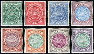 Antigua Scott 31-38 (1908-20) Mint H VF Complete Set, CV $187.00 B