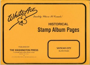 WHITE ACE 2019 Vatican City Album Blank Pages - 10 Pages