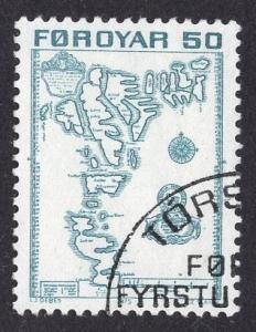Faroe Islands  #9  1975 used  50 ore