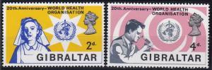 Gibraltar 213-214 MNH (1968)