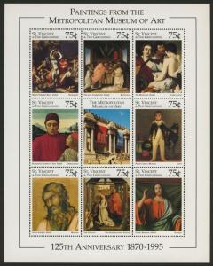 St Vincent 2261 MNH Metropolitan Museum of Art, Paintings, Nativity, Moses