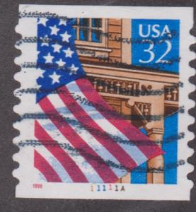 US #2915A Flag over Porch Used PNC Single plate #11111A