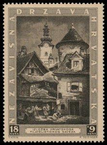 ✔️ CROATIA 1943 - PHILATELIC EXPO ZAGREB - SC. B40 ** MNH OG [CRB006]