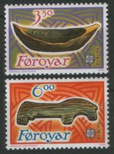 1989 Faroe Islands 184-185 Europa Cept / boats 2,50 €