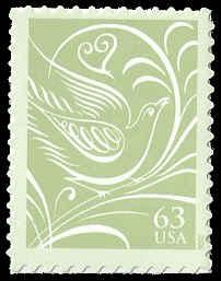 PCBstamps    US #3999 63c Dove facing right, 2006, MNH, (3)