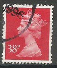 GREAT BRITAIN, Machins, 1993, used 38p red, Scott MH227