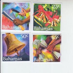 2019 Bahamas Christmas Bells (4) (Scott NA) MNH