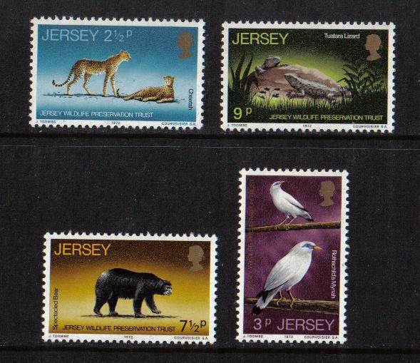 Jersey MNH 65-8 Wildlife 1972