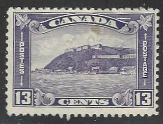 Canada #201 Mint Hinged Single Small Stain (H2)