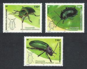 New Caledonia Leaf Beetles Chrysomelidae Insects 3v SG#1366-1368 CV£10+