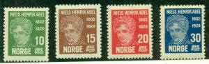 NORWAY #145-8, Mint Never Hinged, Scott $45.00