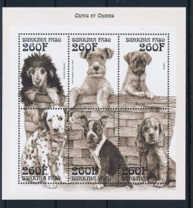 [30128] Burkina Faso 1999 Animals Dogs MNH Sheet