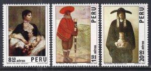 Peru C367-C369 Costumes MNH VF