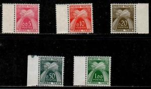 France Scott J93-7 Mint hinged (Catalog Value $74.75)