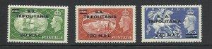 GB TRIPOLITANIA 1951 KGVI SG 32-34  Sc 32-34 High Values MLH