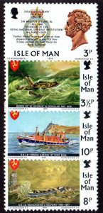Isle Of Man MNH 36-9 Maritime Lifeboats 1974