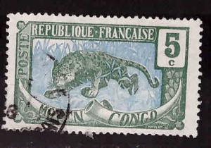 Moyen Middle Congo Scott 4  Used stamp 1907