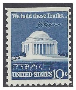 #1510c 10c Jefferson Memorial Booklet Single 1973 Mint NH