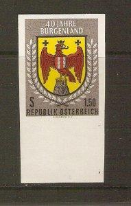 Austria 1961 Burgenland issue, imperf.