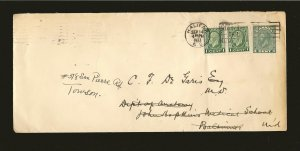 Canada U46a  + 2x195 on Postmarked Halifax NS 1933 Pre- Stamped Cover Used