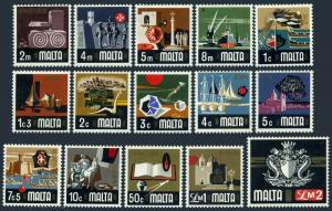 Malta 454-468,504,MNH.Michel 457-471,524. Archaeology,History,Folklore,Arms,1973