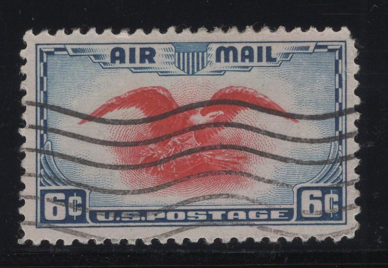 United States US 1938 Eagle 6c Stamp Scott C23 Fancy Cancel Used (35)