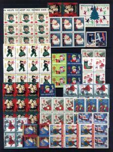Assorted Vintage Christmas Seals from 1929 - 1969 MNH