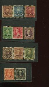 Guam 1-8 & 10-12S SPECIMEN Overprint RARE Mint Run on 11 Stamps  (By 701)