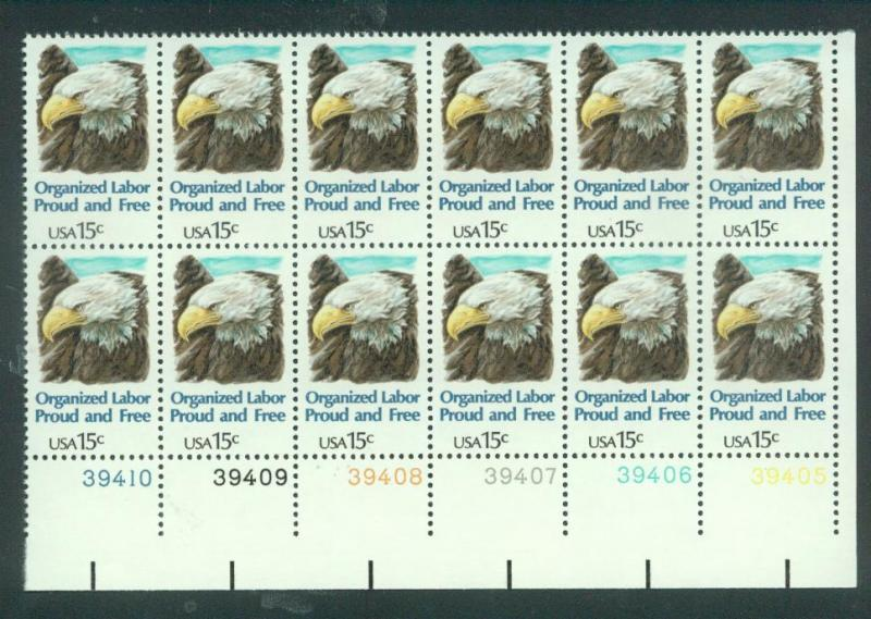 U.S. Scott 1831 XF MNH Plate Block of 12