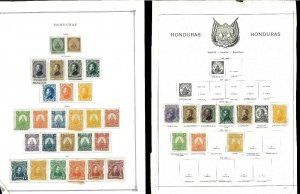 Honduras 1865-1950 M & U. Much Duplication .Hinged on pages & on Stock Sheets.