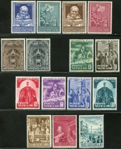 VATICAN Sc#269-297, E15-E16 Seven Sets 1960 Year Complete Mint OG LH