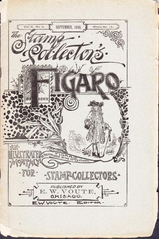 The Stamp Collectors Figaro Chicago - September 1888, No.3