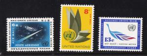 U.N. New York # C8-10, Airmail, Mint NH 1/2 Cat