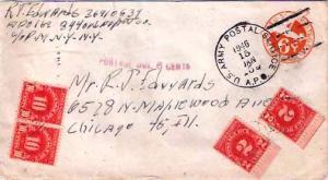 United States A.P.O.'s 6c Monoplane Air Envelope 1946 U.S. Army Postal Servic...