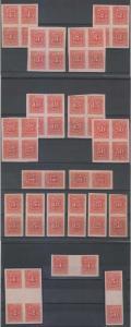 EL SALVADOR 1896 SC J17-J24 ASSORT WITH FULL SETS MINT MOST HINGED VF