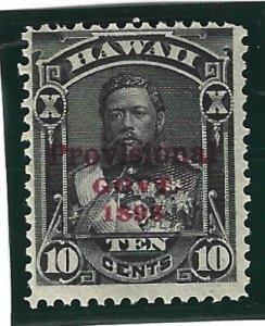 HAWAII Scott #61 Mint 10c Red O/P 2019 CV $14.00