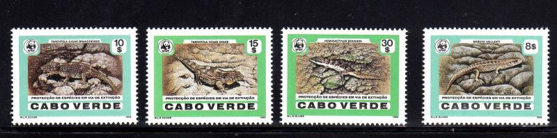 CAPE VERDE #491-494  1986  WWF   MINT  VF NH  O.G