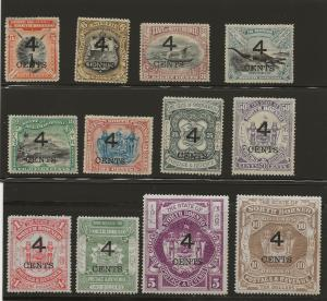 North Borneo 91-102 SG 112-123 MH VF 1899 SCV $197.00 (jr)