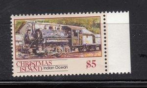 J28375, 1990 christmas island hv of set mnh #269 steam train